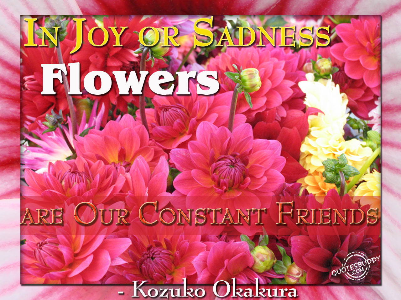 Flowers Are Our Constant Friends ~ Flowers Quote