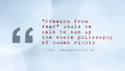 """""""Freedom From Fear"""" ~ Fear Quote"""
