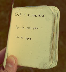 God is so beautiful,He Is with You,He is here ~ Faith Quote