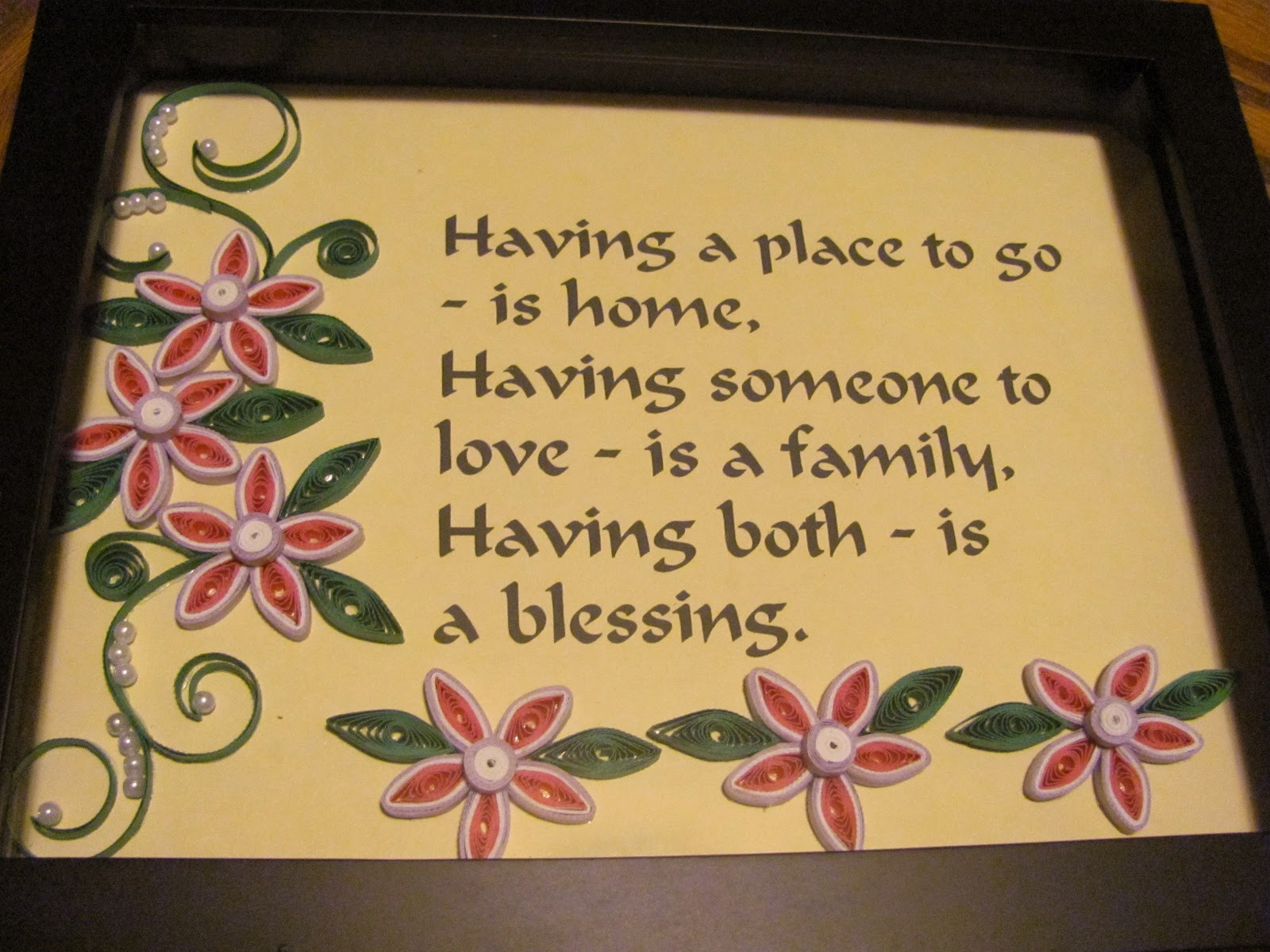 Having a Place to go is home ~ Flowers Quote