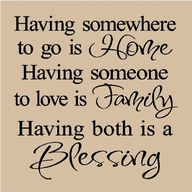 Having somewhere to go is Home ~ Family Quote