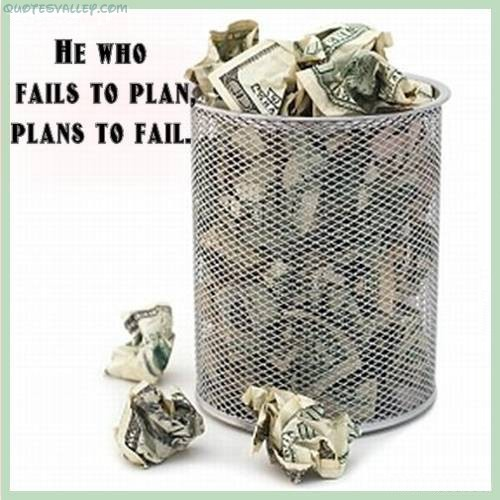 He Who Fails To Plan, Plans To Fail ~ Failure Quote