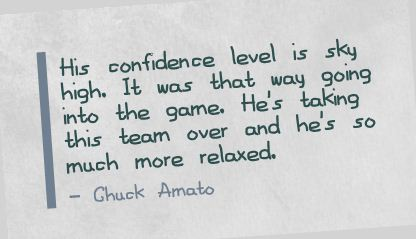 His Confidence Level Is Sky High ~ Confidence Quote