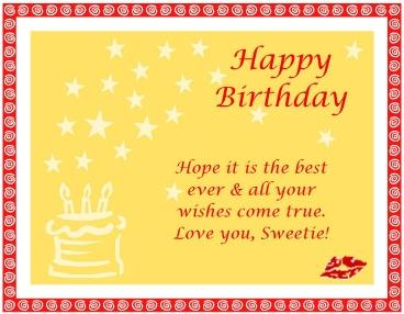 Hope It Is the best ever & all your wishes come true ~ Birthday Quote