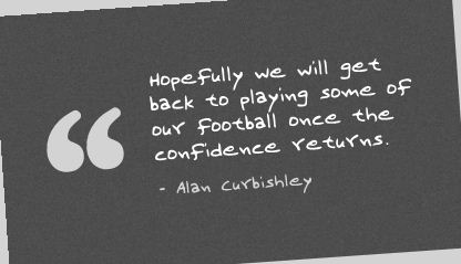 Hopefuly we will get back to playing some of our football once the confidence returns ~ Confidence Quote