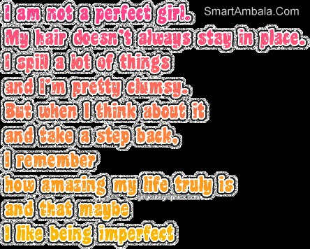 I Am Not A Perfect Girl Attitude Quote Quotespictures Com
