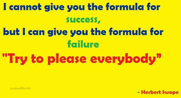 I Cannot Give You the Formula for Success ~ Failure Quote