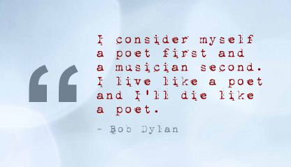 I Consider Myself a Poet First and ~ Confidence Quote