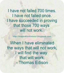I Have Not Failed 700 Times,I Have Not Failed Once ~ Failure Quote