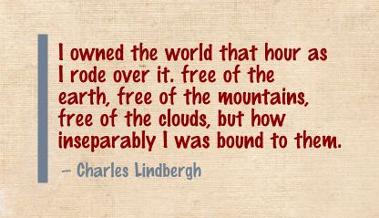 I Owned the World that hour as I rode over It ~ Earth Quote