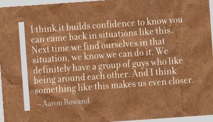 I Think It Builds Confidence Confidence to know you can came back in situations like this ~ Confidence Quote