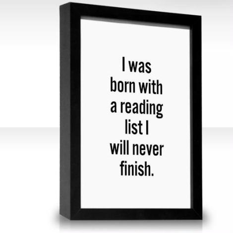 I Was Born with a Reading List