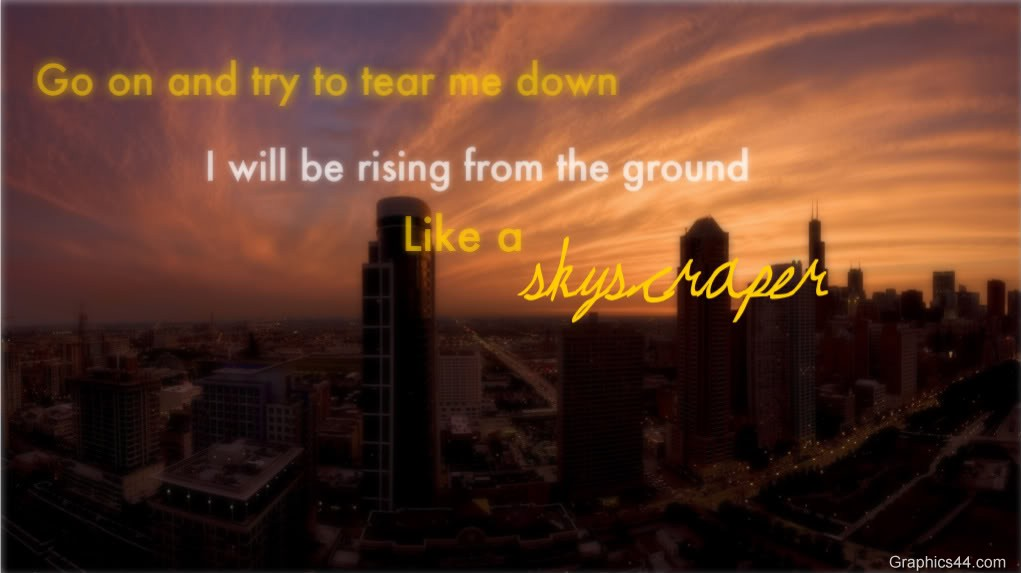 I Will Be Rising From The Ground ~ Confidence Quote