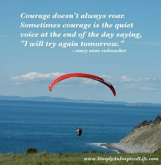 I will try again tomorrow ~ Confidence Quote