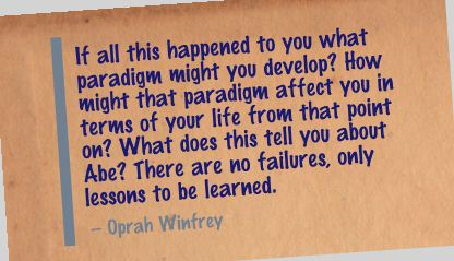 If all this happened to You What Paradigm might you develop! ~ Failure Quote