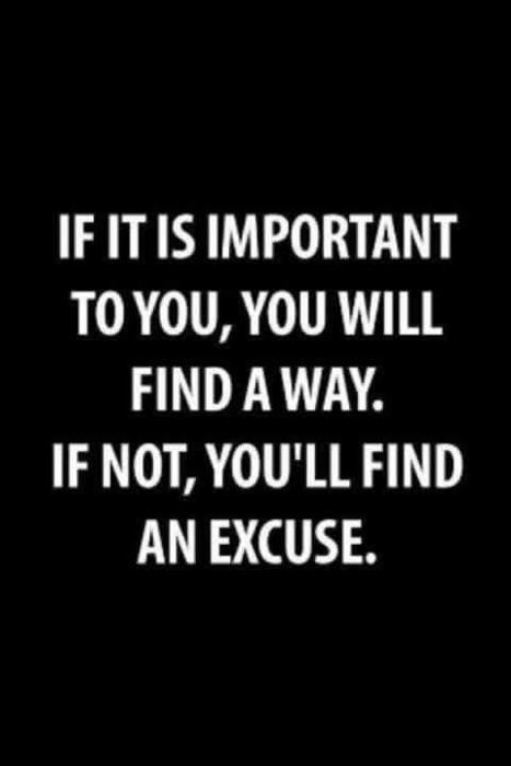 If It Is Important To You,You Will find a Way ~ Exercise Quote