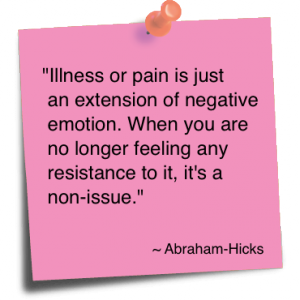 Illness or pain Is Just an Extension of Negative Emotion ~ Emotion Quote
