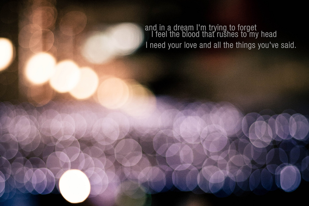I'm Trying to Forget ~ Dreaming Quote