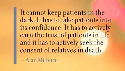 It Cannot Keep Patients In the Dark ~ Confidence Quote