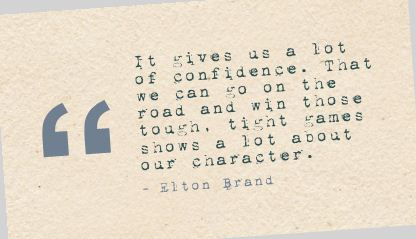 It Gives us a lot of Confidence ~ Confidence Quote
