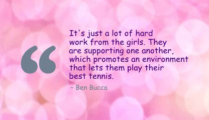 It's Just a lot of hard work from the girls ~ Environment Quote