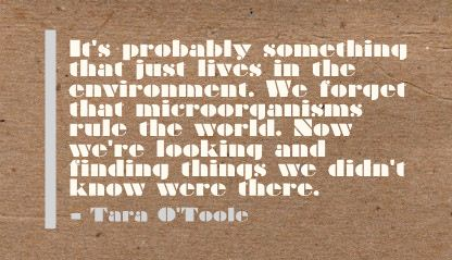 It's Probably Something that just lives in the Environment ~ Environment Quote