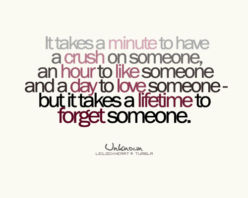 It takes a day to fall in love quote