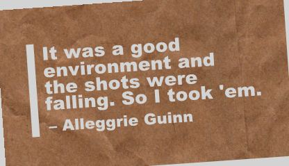It was a good Environment and the shots were falling ~ Environment Quote