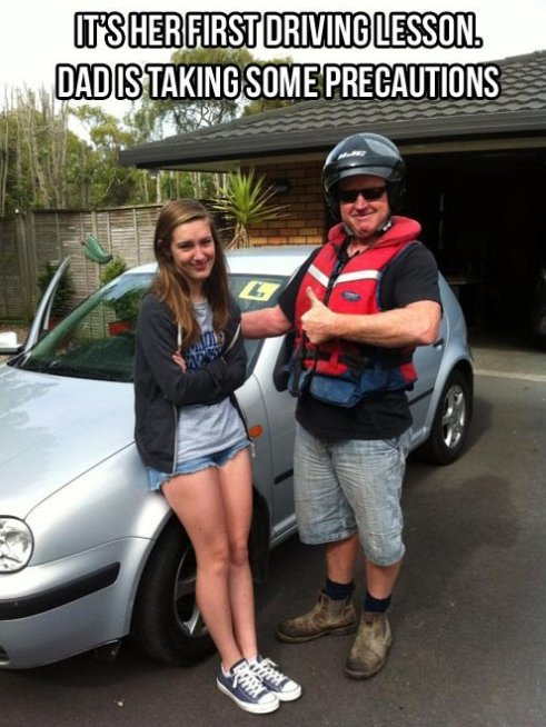It's Her First Driving Lesson ~ Driving Quote