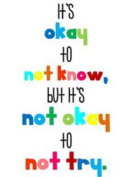 It's Okay To Not Know,But It's Not Okay to not Try ~ Education Quote