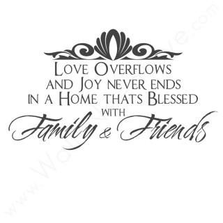 joy never ends in a home family family quote