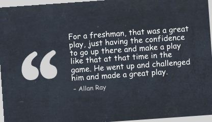Just having the confidence to go up there and make a play ~ Confidence Quote