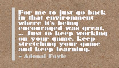 Just to keep Working on your Game ~ Environment Quote