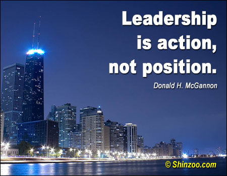 Leadership Is Action,Not Position