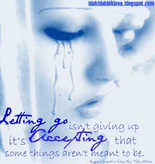 Letting go Isn't Giving Up ~ April Fool Quote