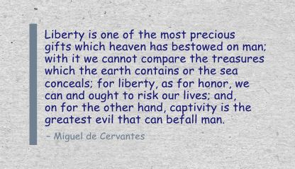 Liberty Is one of the most precious gifts which heaven has bestowed on man ~ Freedom Quote