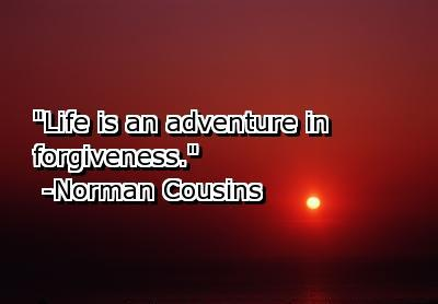 """Life Is an Adventure In Forgiveness"" ~ Forgiveness  Quote"