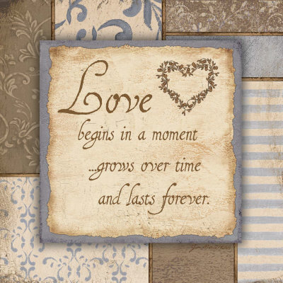 Love Begins In A Moment grows over time and lasts forever ~ Flirt  Quote