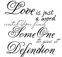 Love Is Just A Word Being In Love Quote