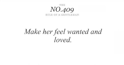 make her feel wanted