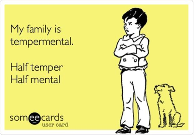 My Family Is Tempermental ~ Family Quote