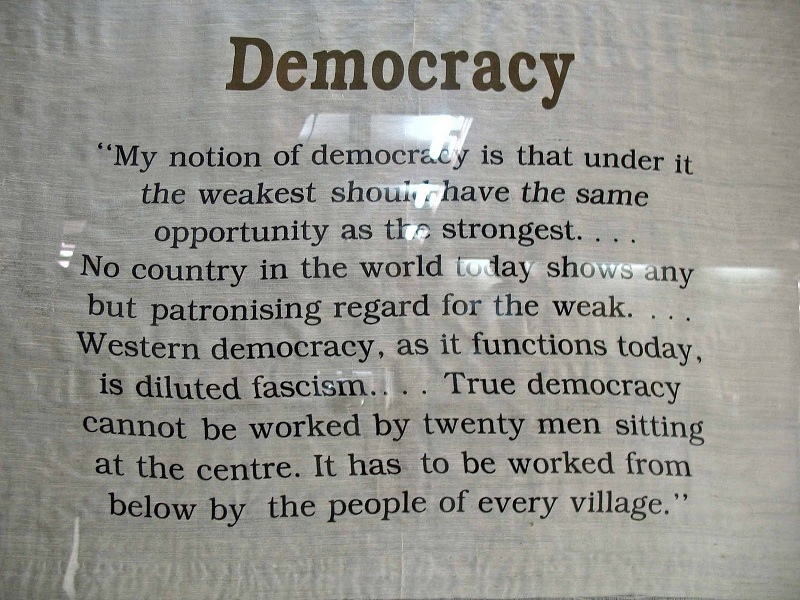 My Nation of Democracy is that under it the weakest should have the same opportunity as the Strongest ~ Democracy Quote