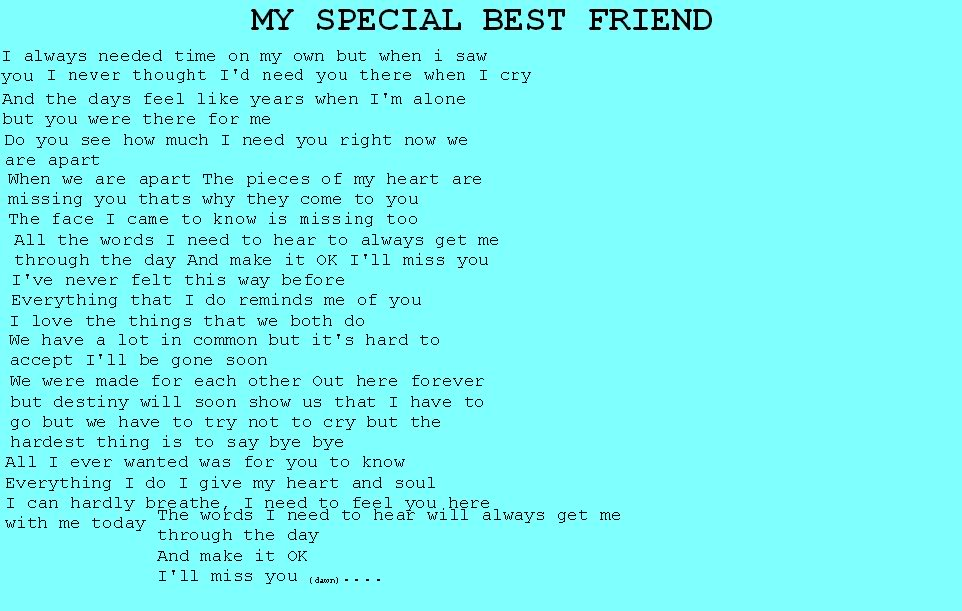 My Special Best Friend Best Friend Quote Quotespictures Com