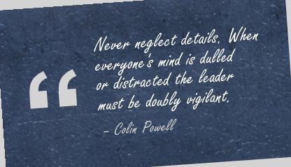 Never Neglect Details ~ Action Quote