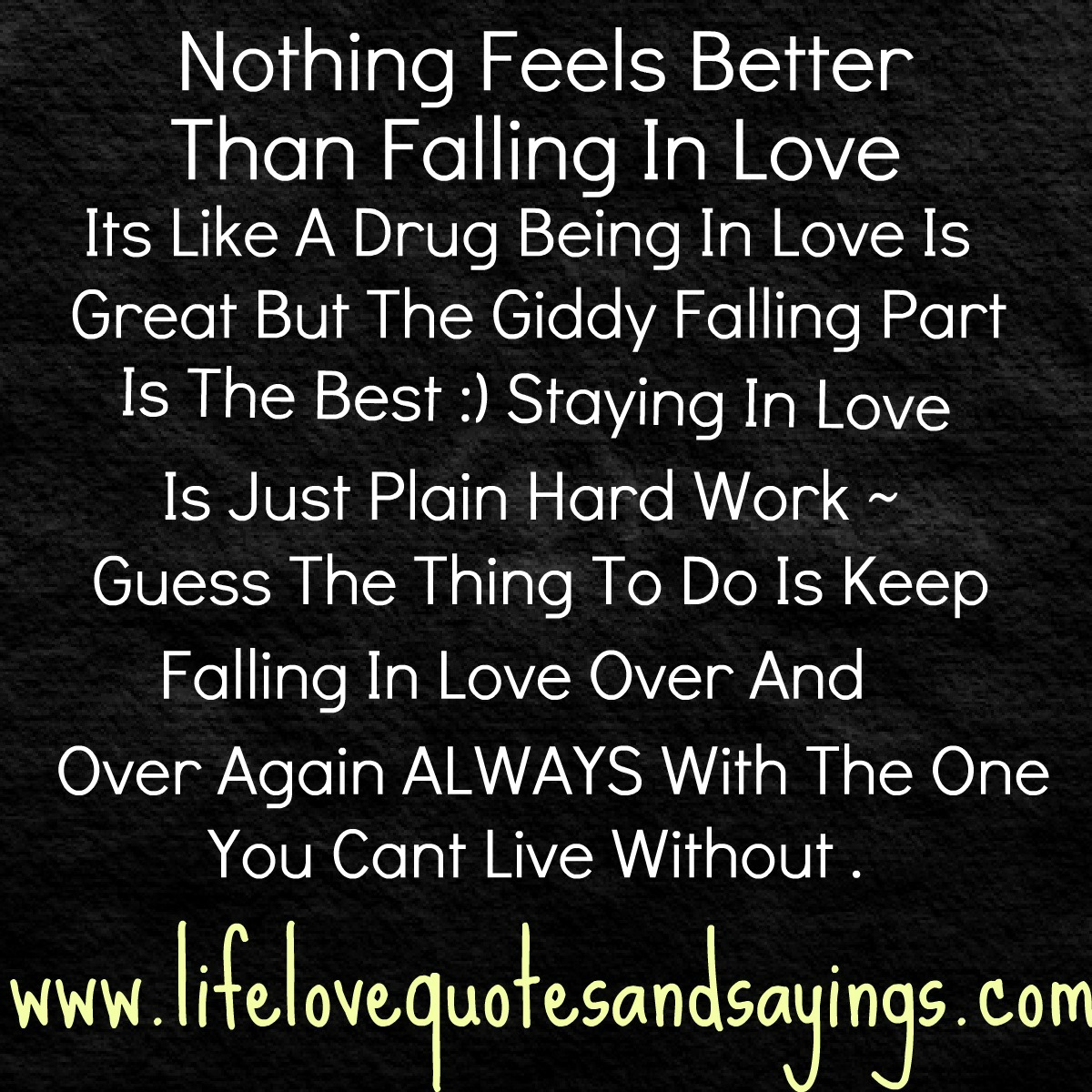 Nothing Feels Better Than Falling In Love   Being In Love QuoteQuotes About Being In Love