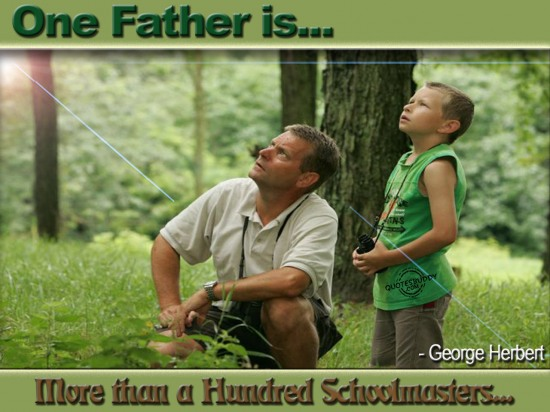 One father is more than a hundred Schoolmasters ~ Father  Quote