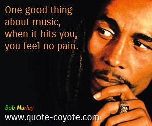One Good Thing About Music,When It Hits You,You Feel No Pain ~ Freedom Quote