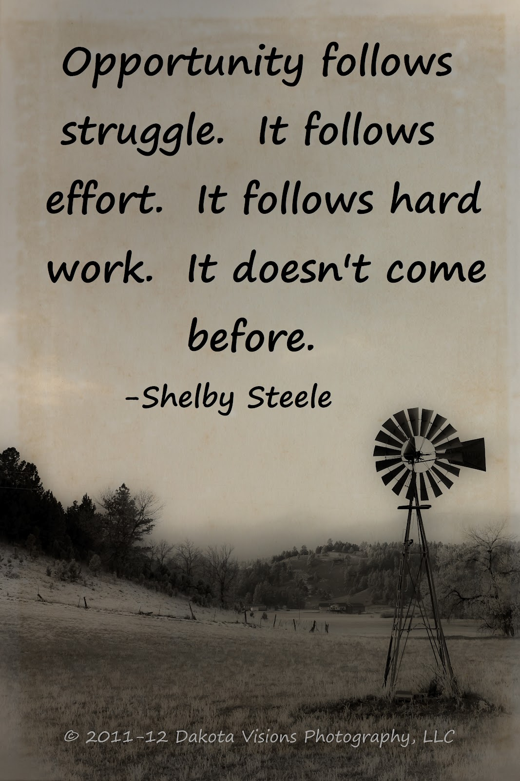 Opportunity follows Strugle Challenge Quote