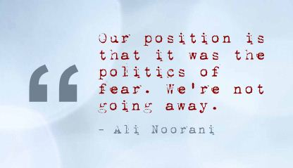 Our Position Is that it was the politics of Fear ~ Fear Quote
