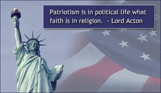 Patriotism Is In Political Life what faith is in religion ~ Democracy Quote